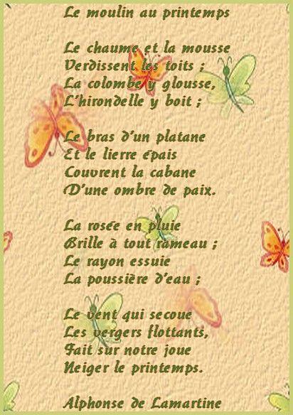 Poème Le Moulin Au Printemps Lunivers De Patounette Et