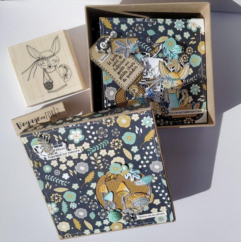 mini carré la vie est tellement belle - collection Esprit Folklore- octobre18- boite ouverte-claire- scrapathome- Chou&Flowers