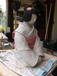 Shinyunu, céramique,sculpture,grès,geïsha,terre,femme,japonaise,argile,engobe,porcelaine,statuette,art,oeuvre (7)