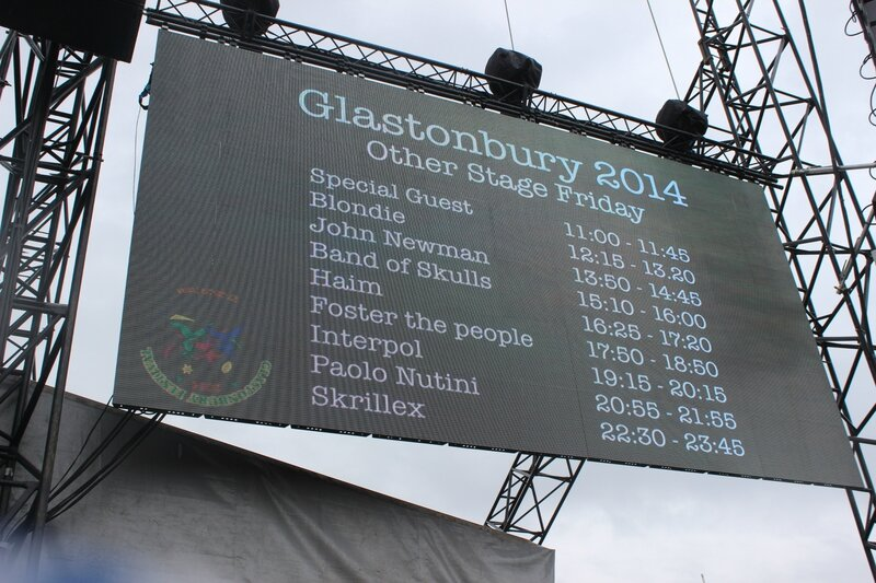 Glastonbury festival 2014 Other Stage Kaiser Chiefs TBA screen