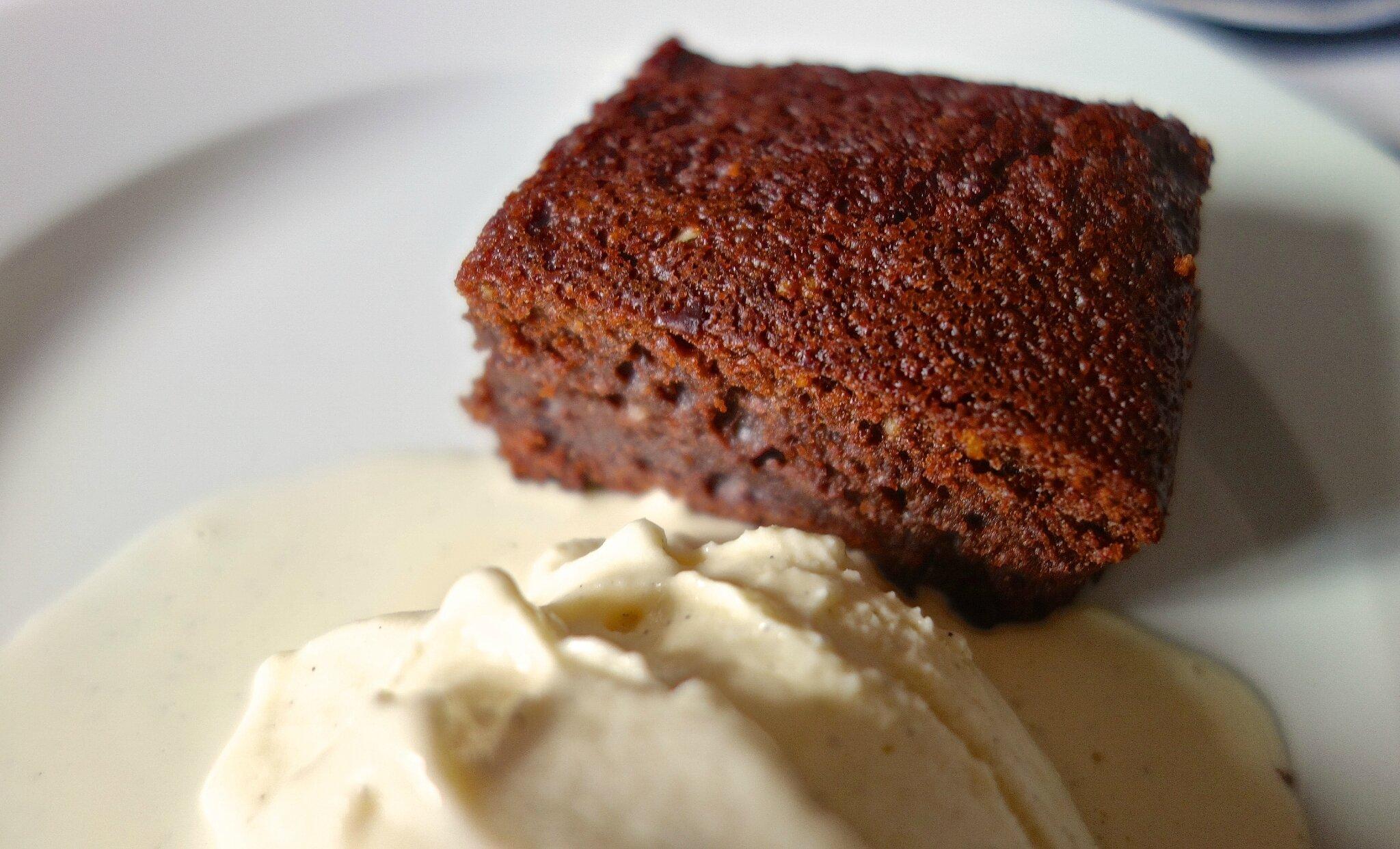 gâteau fondant chocolat-café-glace à l'amaretto