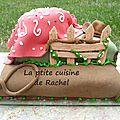 Gâteau country façon wedding-cake
