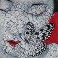 20x20 geisha au papillon