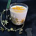 Riz au lait, à l'orange et aux épices de Noël