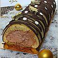 Bûche de noël au chocolat et citron