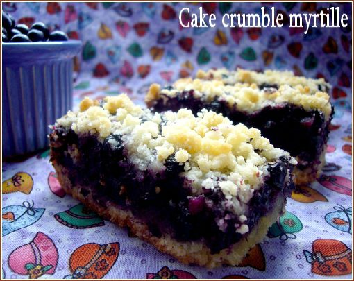cake crumble myrtille