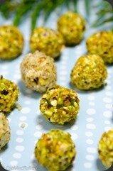 Raisins au fromage frais et pistaches