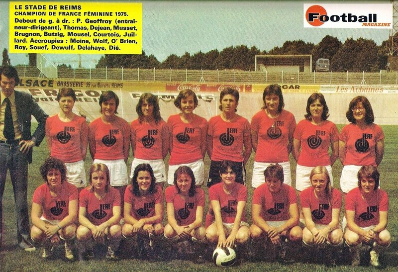 Photo Stade de Reims 1975 France Football