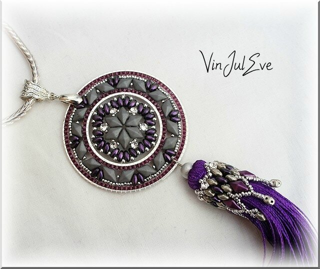collier Staka gris mauve