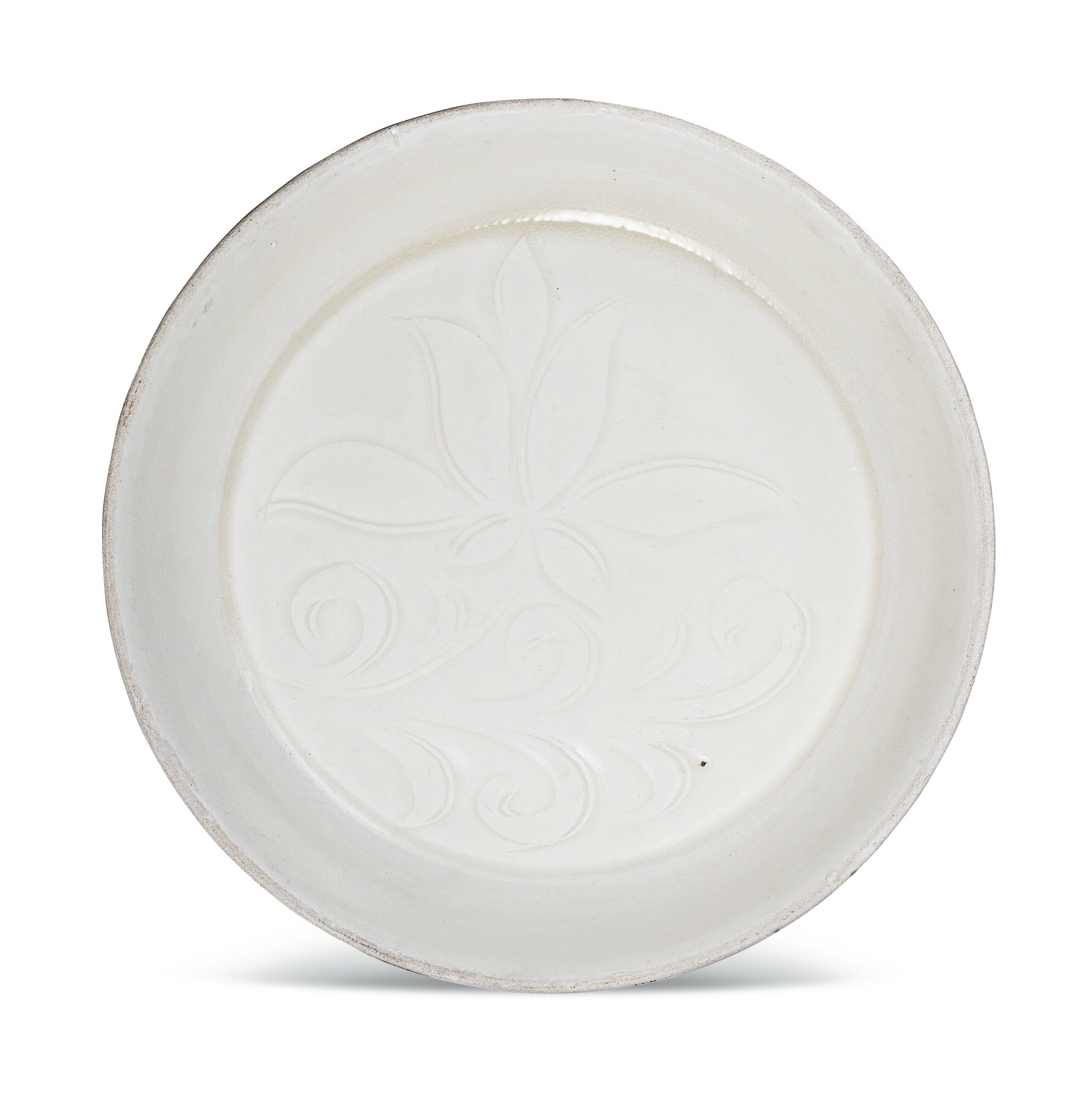 A small 'Ding' 'lotus' dish, Song dynasty (960–1279)