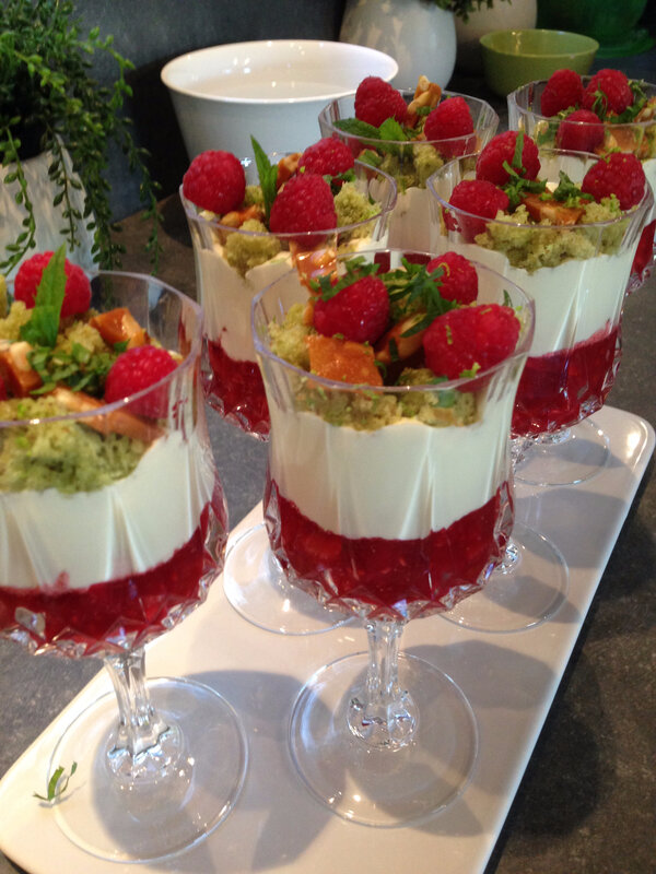 Verrine aux fruits rouges
