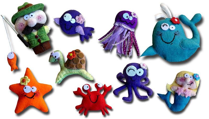 marionnettes mer