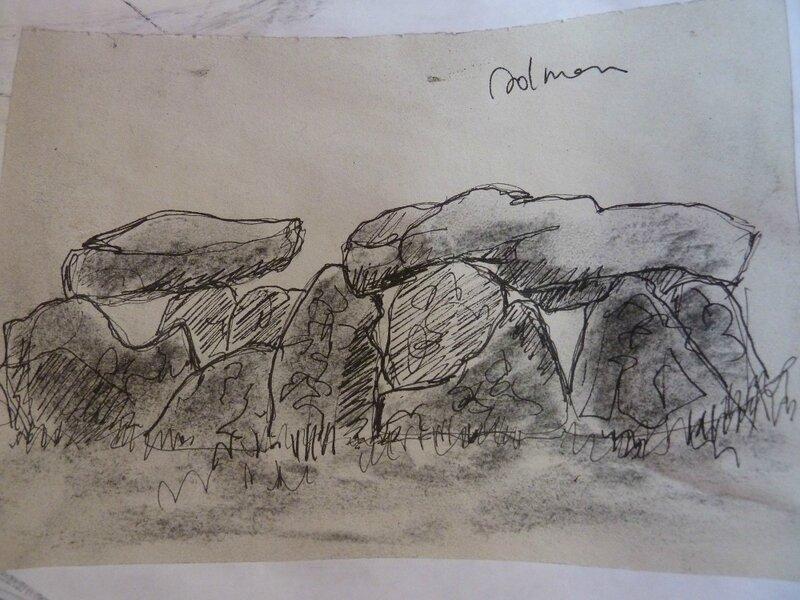 croquis du dolmen