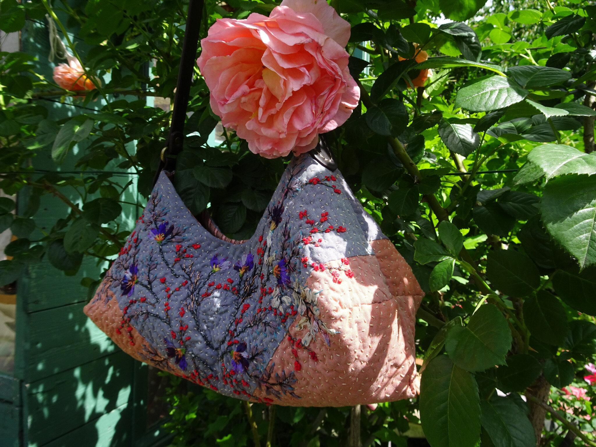 le sac Folles Fleurs de Cécile c'est facile.