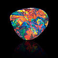 Exceptional black pattern opal-