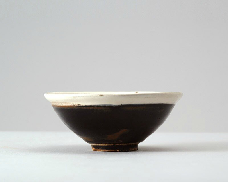 Black ware bowl with white rim, 11th - 12th century, Northern Song Dynasty