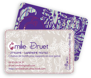 Styliste Graphiste Freelance Carte Visite Emilie Druet 23 08 10