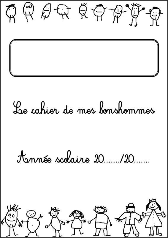PAGE DE GARDE CAHIER DE MES BONSHOMMES