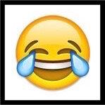 smiley rire aux larmes