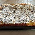 Gâteau abricot creme d'amandes pignons