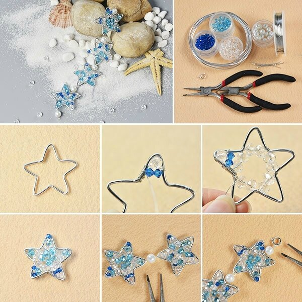 600-Pandahall-Original-DIY-–-Making-Wire-Wrap-Star-Bracelet-with-Glass-Beads-Decorated