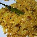 Cabbage thoran: choux sauté à la noix de coco et aux épices