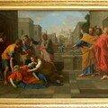 La mort de Saphire, v. 1652, h/t, 122x198cm, Louvre.