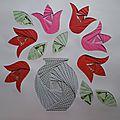 Iris folding : Les fleurs & les vases