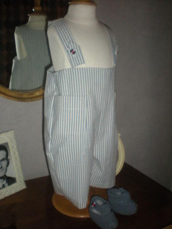 Pantalon à bretelles 6/9 mois