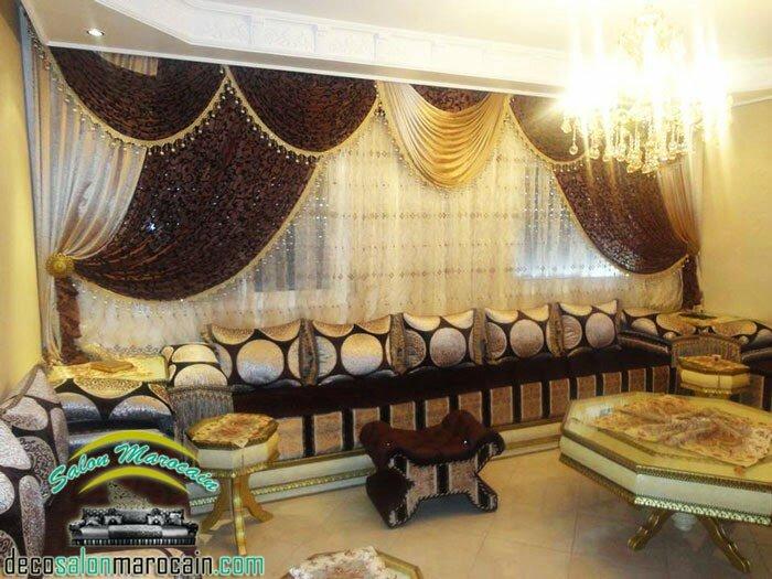 salon marocain la villa 2015 salon marocain moderne. Black Bedroom Furniture Sets. Home Design Ideas