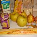 Tarte aux pommes, poires, amandes et chocolat
