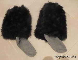chaussettes fourrures
