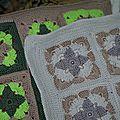 coussins granny au crochet