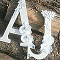 lettres des mariés initiales Monogramme mariage