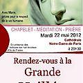 Flyer Veillée pour la vie 2012