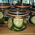 Pickles de concombre au vinaigre de cidre