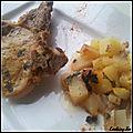 Côtes de porc au four