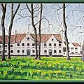 Le béguinage , à bruges, huile 38x55, (photo arnaud dourdent)