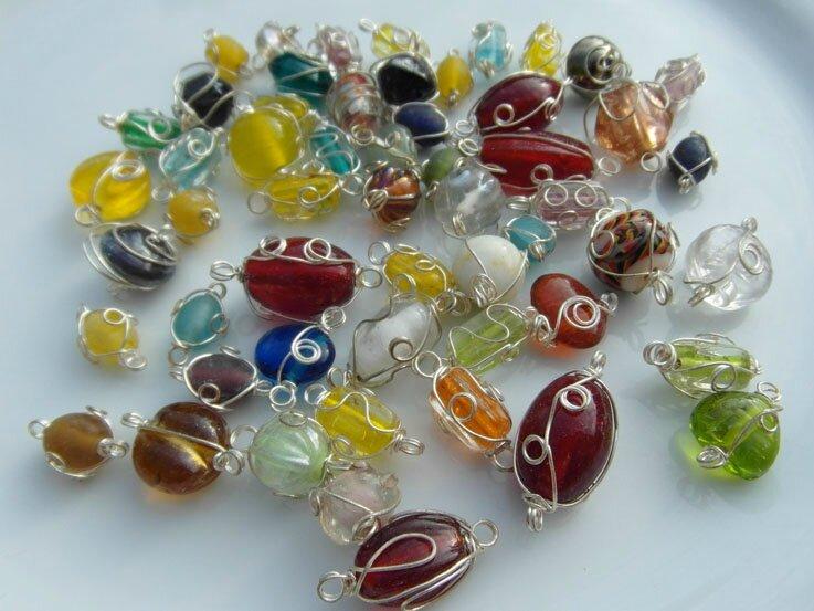 perles filaments argent 5