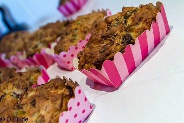 Mini cakes au thon, poireaux et poivrons