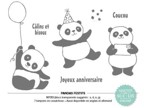 Pandas festifs