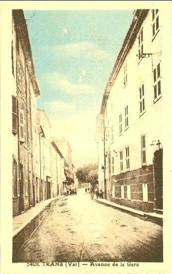 Avenue de la Gare (carte colorisée)
