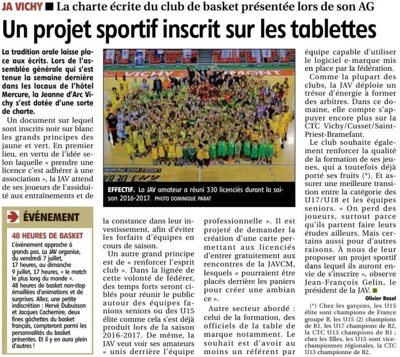17-06-28 Un projet sportif inscrit sur les tablettes