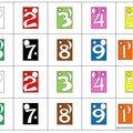 Nombres de 1 à 10 (couleurs des réglettes cuisenaire)