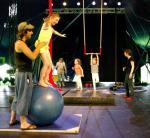 Un atelier découverte précédait l'assemblée générale : boule, trapèze, tissu, pédalgo …