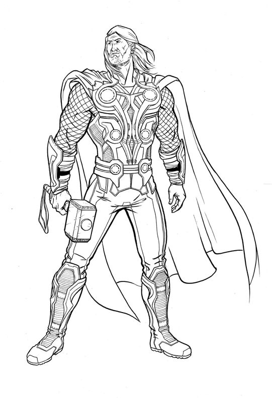 Thor by eric comixheroes - Coloriage thor ...