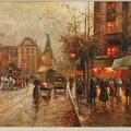 French Impressionist Oil Painting Paris Street Scene 1880s Parisian-1398103343-zoom-71