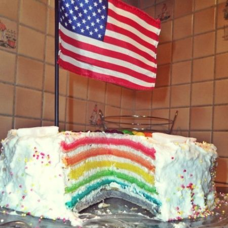 Rainbow cake de Laura