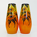 Vintage ... vases en verre * orange