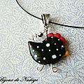 bijoux poule pendentif